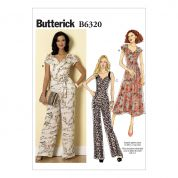 Butterick Ladies Easy Sewing Pattern 6320 Sweetheart Neckline Dress & Jumpsuits