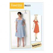 Butterick Ladies Sewing Pattern 6321 Square Neck Dresses
