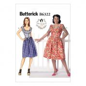 Butterick Ladies Sewing Pattern 6322 Ruched Corset Style Dress