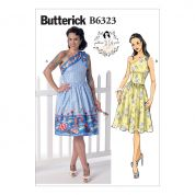 Butterick Ladies Sewing Pattern 6323 One Shoulder Dresses
