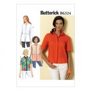 Butterick Ladies Easy Sewing Pattern 6324 Button Down Collared Shirts
