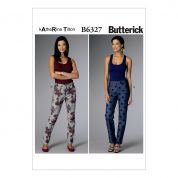 Butterick Ladies Easy Sewing Pattern 6327 Semi Fitted Tapered Trouser Pants