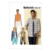 Butterick Ladies Easy Sewing Pattern 6328 Open Front Jackets