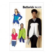 Butterick Ladies Easy Sewing Pattern 6329 Curved Seam & Cropped Jackets