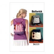 Butterick Accessories Sewing Pattern 6335 Drawstring Backpack Bags