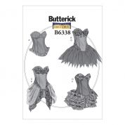 Butterick Ladies Sewing Pattern 6338 Curved Hem Corsets & Skirts