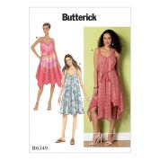 Butterick Ladies Easy Sewing Pattern 6349 Handkerchief & Straight Hem Dresses