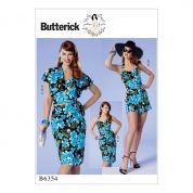 Butterick Ladies Easy Sewing Pattern 6354 Bolero, Halter or Strapless Bustier, Sarong & Shorts