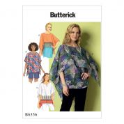 Butterick Ladies Easy Sewing Pattern 6356 Fringe Trim, Overlay & Notch Neck Tunics