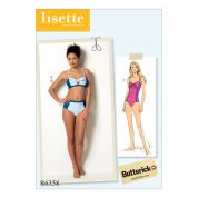 Butterick Ladies Sewing Pattern 6358 Tie Detail Bikini & One Piece Swimsuit
