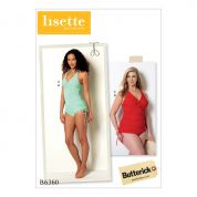 Butterick Ladies Sewing Pattern 6360 Twist Front Tankini & High Waist Bikini Bottoms