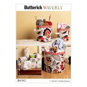 Butterick Homeware Easy Sewing Pattern 6362 Cylindrical & Rectangular Storage Bins