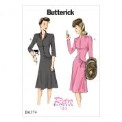 Butterick Ladies Sewing Pattern6374 Swan Neck or Shawl Collar Vintage Style Dresses
