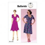 Butterick Ladies Sewing Pattern 6380 Sweeheart Neckline Dress with Gathered Bodice
