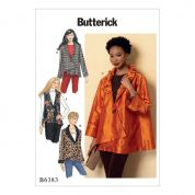 Butterick Ladies Easy Sewing Pattern 6383 Collared Waistcoat & Jackets