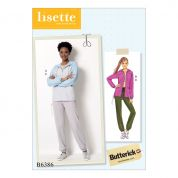 Butterick Ladies Sewing Pattern 6386 Seamed Jacket with Hood & Drawstring Pants