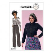 Butterick Ladies Sewing Pattern 6390 Button Down Jacket with Bust Pockets