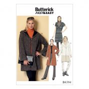 Butterick Ladies Easy Sewing Pattern 6394 Shawl Collar Coats