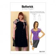 Butterick Ladies Plus Size Sewing Pattern 6395 Sweetheart Neckline Blouse & Dress