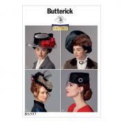 Butterick Ladies Sewing Pattern 6397 Vintage Style Hats in Four Styles