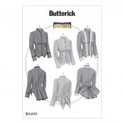 Butterick Ladies Sewing Pattern 6400 Vintage Style Boned, Back Pleat Jackets