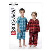 Butterick See & Sew Boys Easy Sewing Pattern 6403 Tops, Shorts & Pants