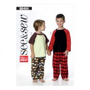 Butterick See & Sew Boys Easy Sewing Pattern 6404 Tops & Pants