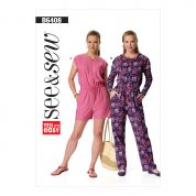 Butterick See & Sew Ladies Easy Sewing Pattern 6408 Blouson Bodice Romper & Jumpsuit