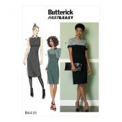 Butterick Ladies Easy Sewing Pattern 6410 Paneled Dresses with Yokes