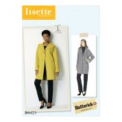 Butterick Ladies Easy Sewing Pattern 6423 Drop Shoulder Shawl Collar Coat with Pockets