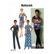 Butterick Ladies Easy Sewing Pattern 6425 Cold Shoulder Top, Dress, Jumpsuit, Pants & Sash