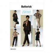 Butterick Ladies Easy Sewing Pattern 6426 Jacket, Top, Tunic, Dress & Pants
