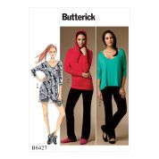 Butterick Ladies Easy Sewing Pattern 6427 Batwing Tops & Dress, Shorts & Pants