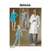 Butterick Ladies Easy Sewing Pattern 6428 Pyjamas, Nightie & Dressing Gown