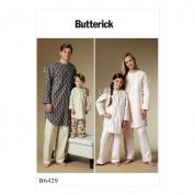 Butterick Family Easy Sewing Pattern 6429 Buttoned Tunic & Pull On Pants