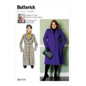 Butterick Ladies Sewing Pattern 6430 Empire Waist Coat with Princess Seams
