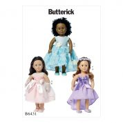 Butterick Crafts Sewing Pattern 6431 Special Occasion Dresses & Accessories Doll Clothes