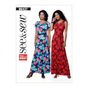 Butterick See & Sew Ladies Easy Sewing Pattern 6437 Pullover Maxi Dresses & Belt