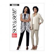 Butterick Ladies Easy Sewing Pattern 6443 Loose Fit Open Front Jackets