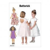 Butterick Girls Easy Sewing Pattern 6445 Dresses with Optional Heart Cut Out