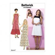Butterick Ladies Easy Sewing Pattern 6447 Back Cut Out Dresses with Yokes