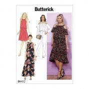 Butterick Ladies Easy Sewing Pattern 6452 Dresses & Jumpsuit