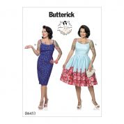 Butterick Ladies Sewing Pattern 6453 Princess Seam Vintage Style Dresses