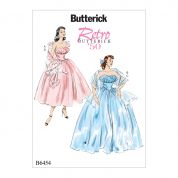 Butterick Ladies Sewing Pattern 6454 1950s Vintage Style Ruffled Dresses & Shawls