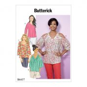 Butterick Ladies Easy Sewing Pattern 6457 Cold Shoulder Tops