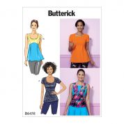 Butterick Ladies Easy Sewing Pattern 6458 Pullover Paneled Tops
