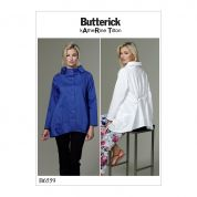 Butterick Ladies Sewing Pattern 6459 Stand Collar Back Gathered Top