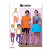 Butterick Ladies Easy Sewing Pattern 6460 Pleated Skort, Shorts & Pants