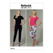 Butterick Ladies Sewing Pattern 6461 Seam Detail Pants