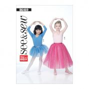 Butterick See & Sew Girls Easy Sewing Pattern 6469 Leotards & Tutu Dance Skirts